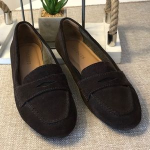 Talbots brown suede leather loafer Size 8.5